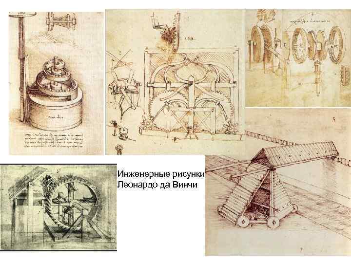 Инженерные рисунки Леонардо да Винчи