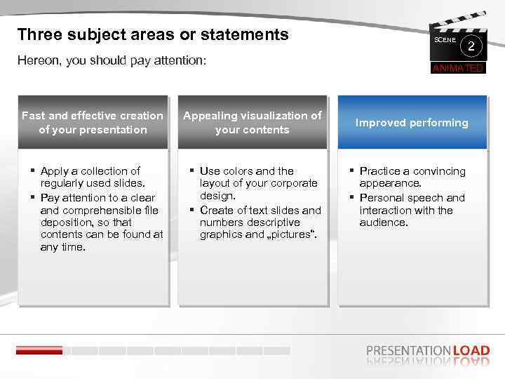 Three subject areas or statements Hereon, you should pay attention: Fast and effective creation