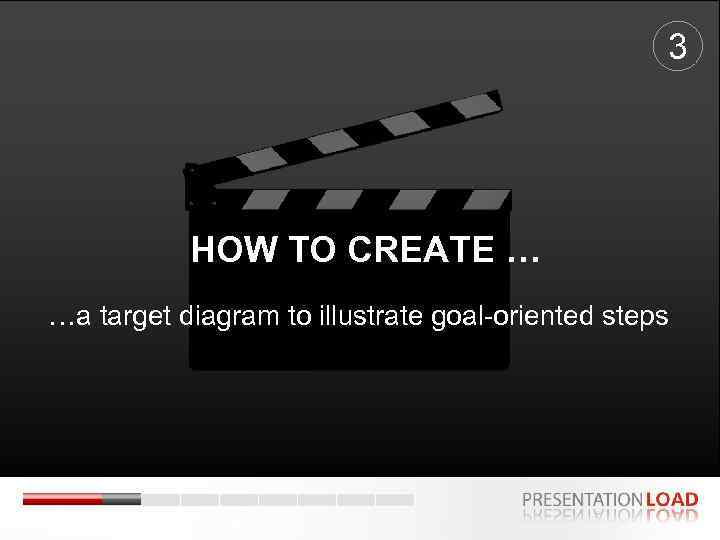 3 HOW TO CREATE … …a target diagram to illustrate goal-oriented steps