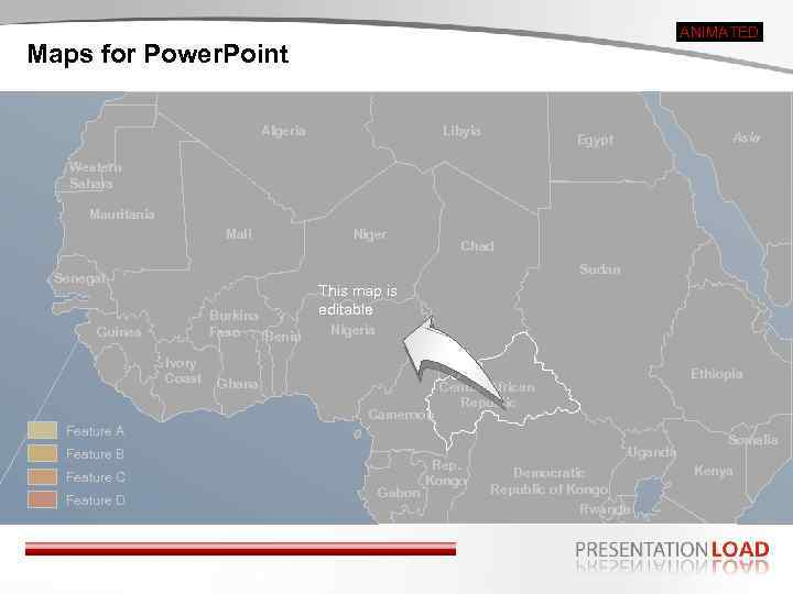 ANIMATED Maps for Power. Point Algeria Libyia Asia Egypt Western Sahara Mauritania Mali Niger