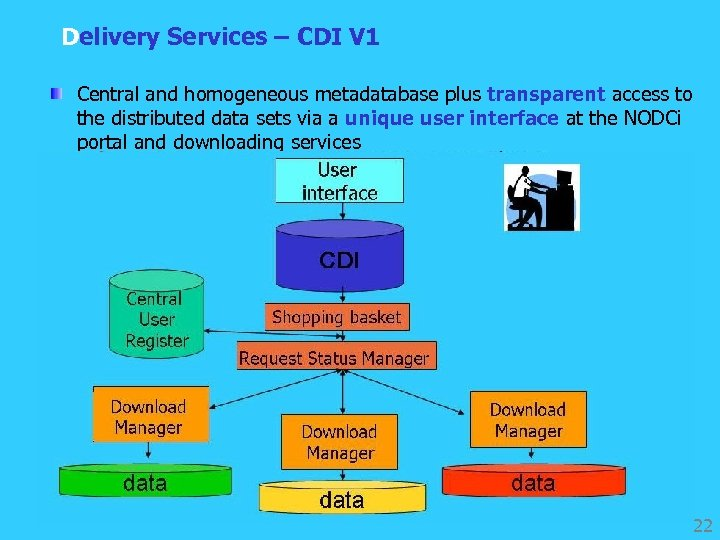 Delivery Services – CDI V 1 Central and homogeneous metadatabase plus transparent access to