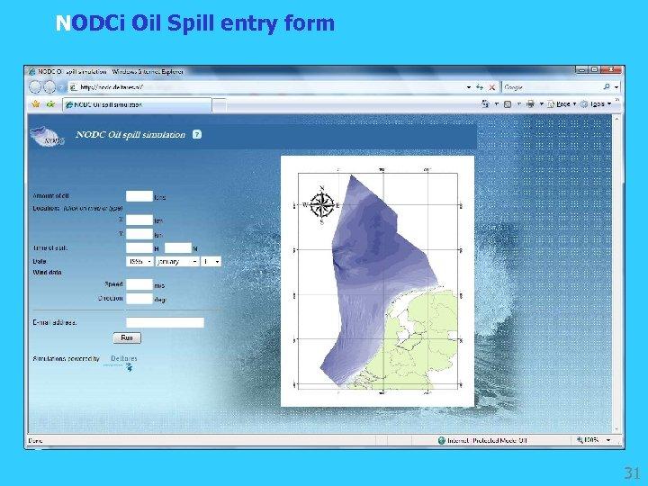 NODCi Oil Spill entry form 31