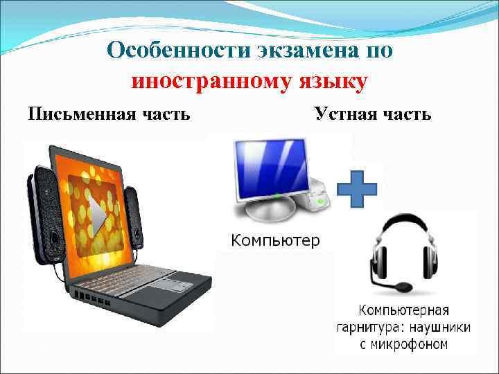 Особенности экзамена по иностранному языку Письменная часть Устная часть