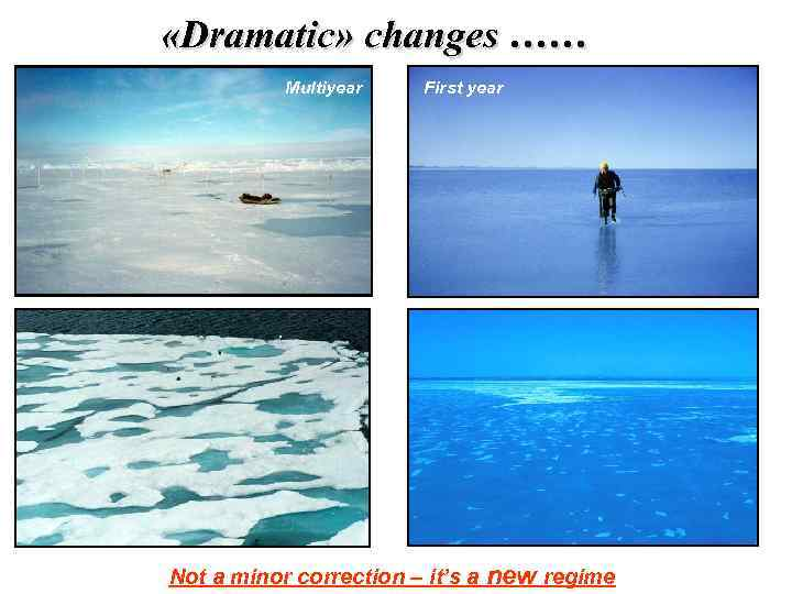 «Dramatic» changes …… Multiyear First year Not a minor correction – it's a