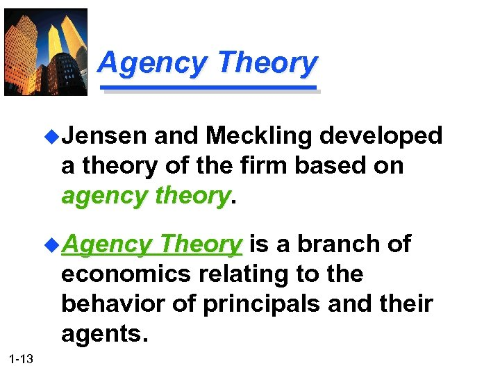 disadvantage of agency theory With this theory, we are not using the word contingency in the sense of contingency planning  here, a contingency is a situation or event that's dependent – or contingent – on someone or something else.