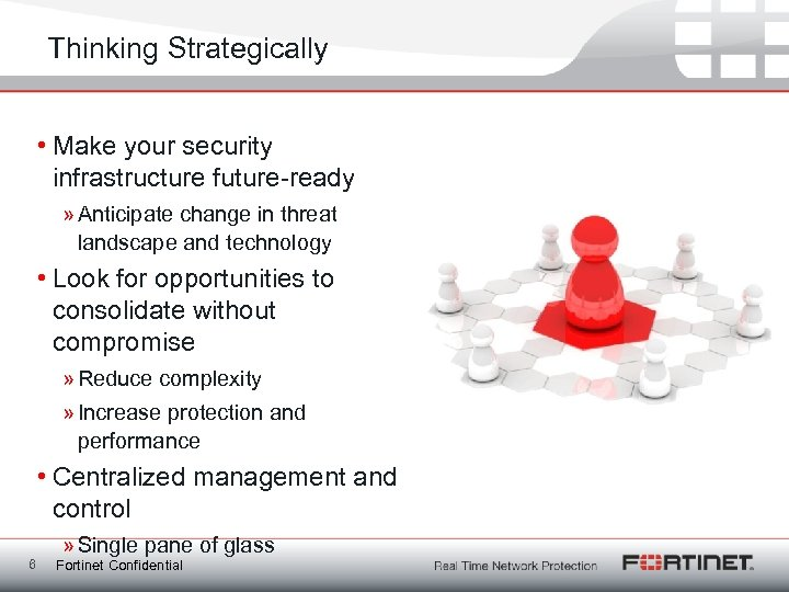 Thinking Strategically • Make your security infrastructure future-ready » Anticipate change in threat landscape