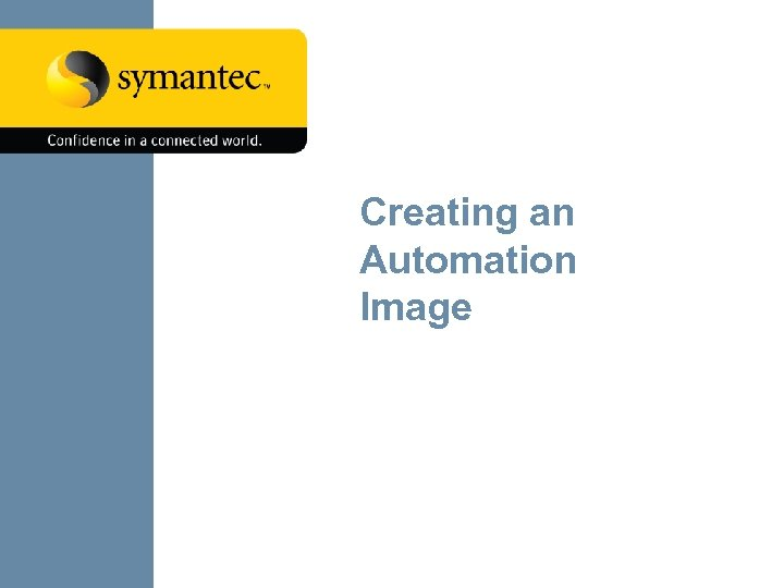 Creating an Automation Image