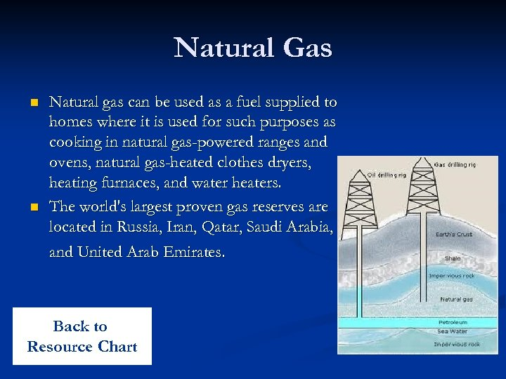 Natural Gas n n Natural gas can be used as a fuel supplied to
