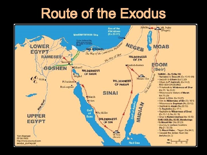 Route of the Exodus