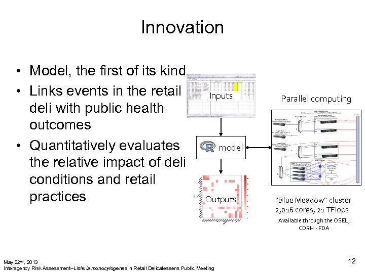 Innovation • Model, the first of its kind • Links events in the retail