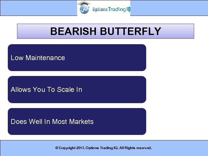 BEARISH BUTTERFLY Low Maintenance Allows You To Scale In Does Well In Most Markets
