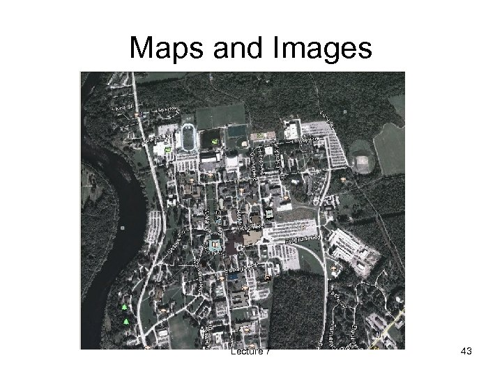Maps and Images Lecture 7 43