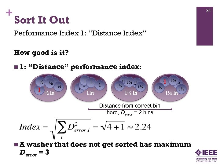 "+ 24 Sort It Out Performance Index 1: ""Distance Index"" How good is it?"