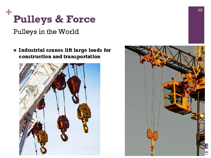 + 45 Pulleys & Force Pulleys in the World n Industrial cranes lift large
