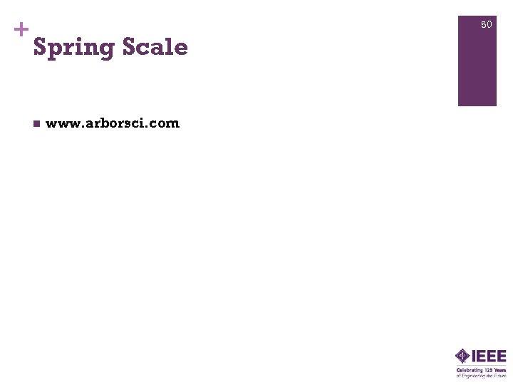 + 50 Spring Scale n www. arborsci. com