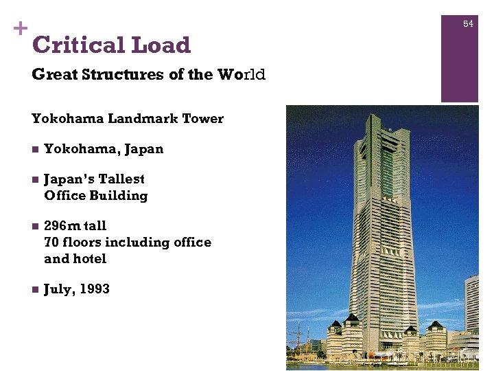 + 54 Critical Load Great Structures of the World Yokohama Landmark Tower n Yokohama,