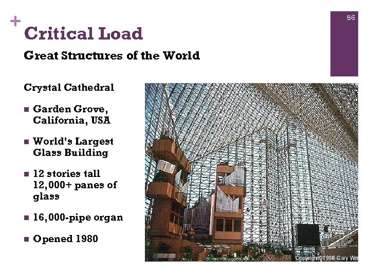 + 56 Critical Load Great Structures of the World Crystal Cathedral n Garden Grove,