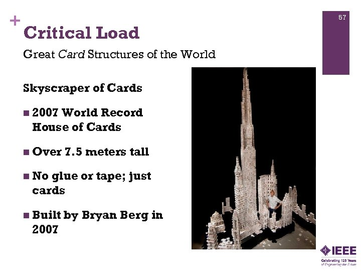 + 57 Critical Load Great Card Structures of the World Skyscraper of Cards n