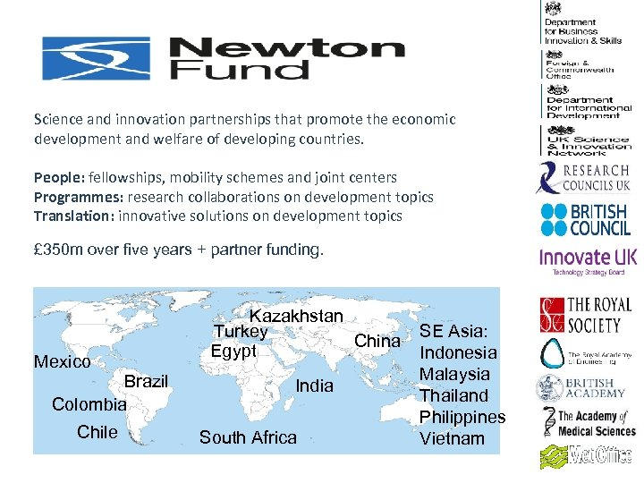 Science and innovation partnerships that promote the economic development and welfare of developing countries.