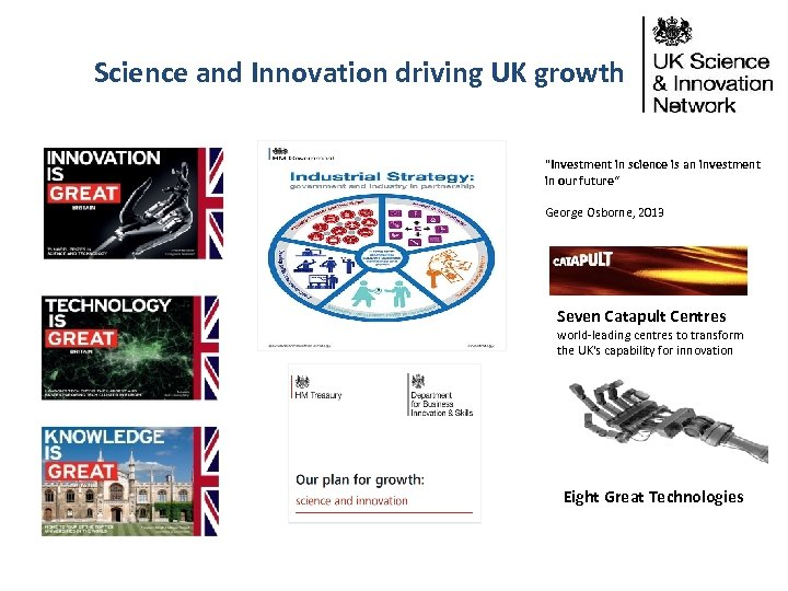 Science and Innovation driving UK growth