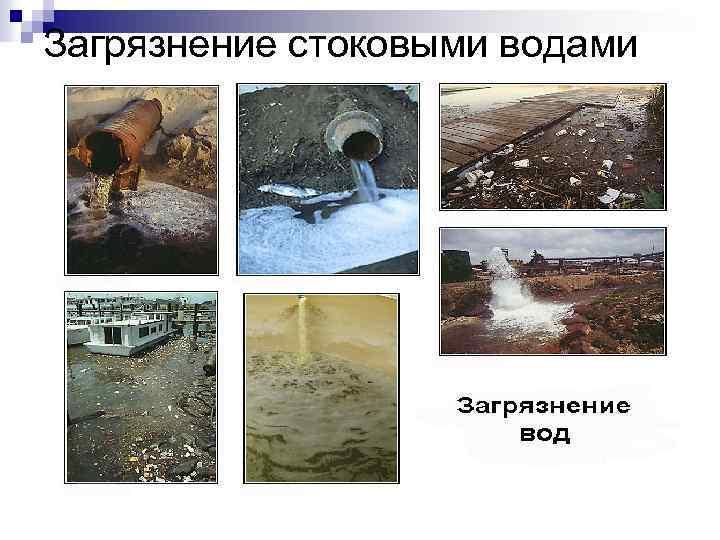 Загрязнение стоковыми водами