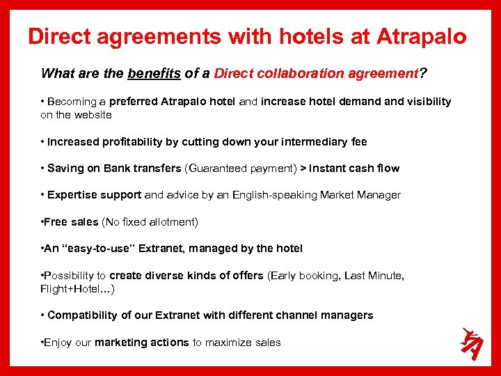 Direct agreements with hotels at Atrapalo What are the benefits of a Direct collaboration
