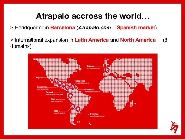 Atrapalo accross the world… > Headquarter in Barcelona (Atrapalo. com – Spanish market) >