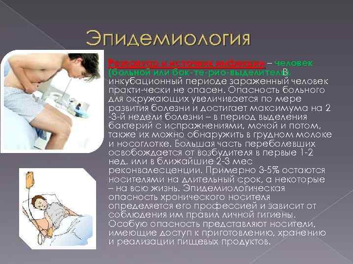 Эпидемиология Резервуар и источник инфекции – человек (больной или бак те рио выделитель). В