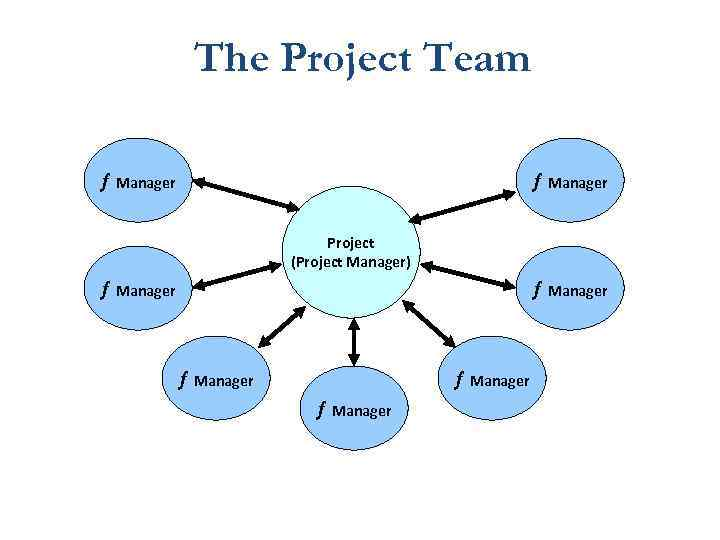 The Project Team ¦ Manager Project (Project Manager) ¦ Manager ¦ Manager