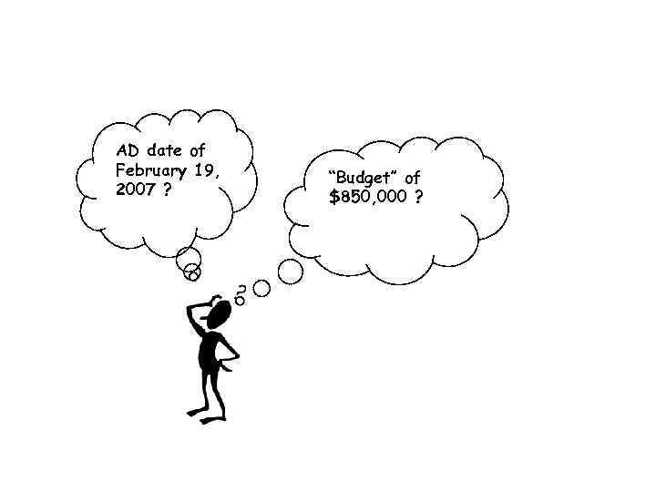 """AD date of February 19, 2007 ? """"Budget"""" of $850, 000 ?"""