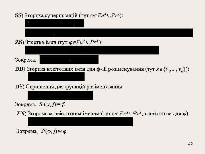 SS) Згортка суперпозицій (тут Fn. A Pr. A): ZS) Згортка імен (тут Fn.