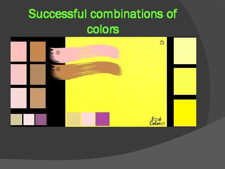 Successful combinations of colors