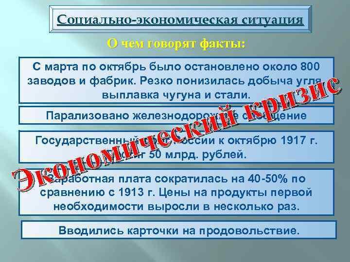 Социально-экономическая ситуация О чем говорят факты: С марта по октябрь было остановлено около 800