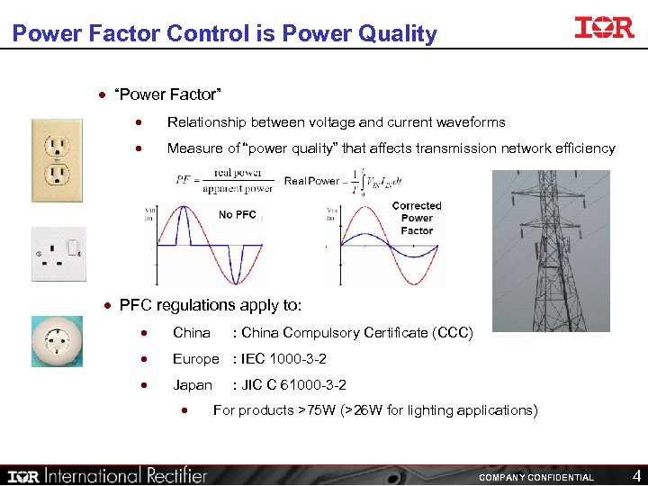 "Power Factor Control is Power Quality · ""Power Factor"" · Relationship between voltage and"