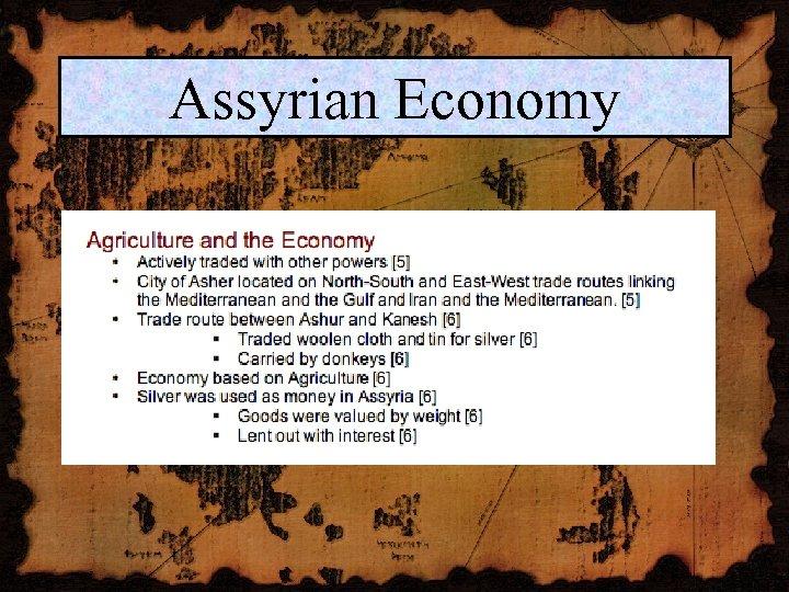 Assyrian Economy