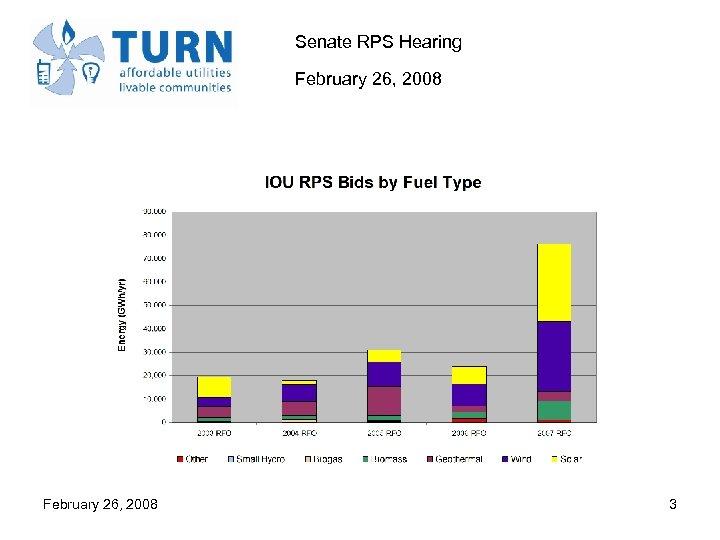 Senate RPS Hearing February 26, 2008 3