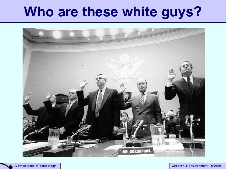 Who are these white guys? A Small Dose of Toxicology Children & Environment –