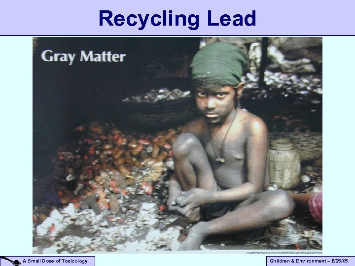 Recycling Lead A Small Dose of Toxicology Children & Environment – 6/25/05