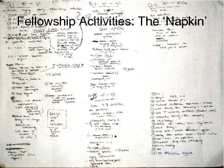 Fellowship Acitivities: The 'Napkin'