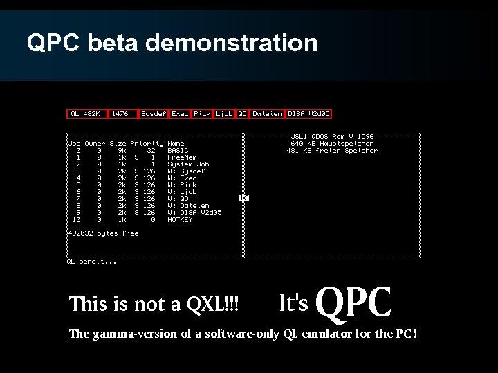 QPC beta demonstration
