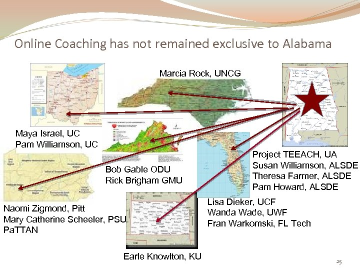 Online Coaching has not remained exclusive to Alabama Marcia Rock, UNCG Maya Israel, UC