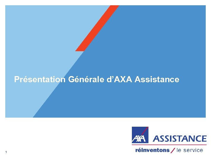 Présentation Générale d'AXA Assistance 1