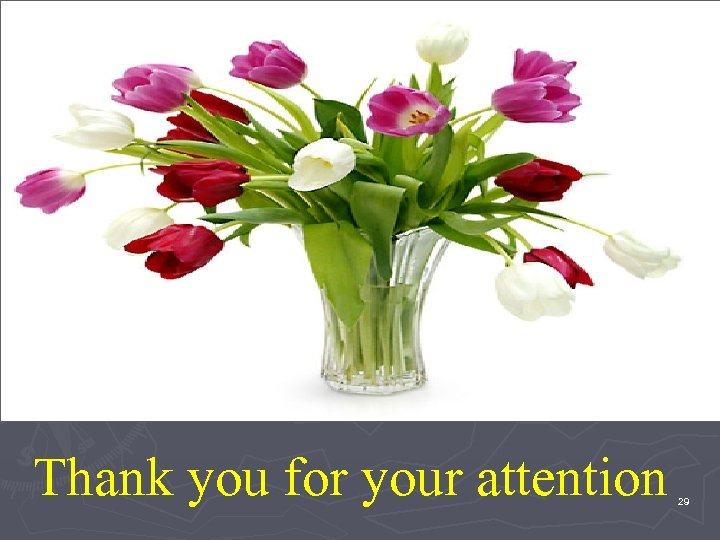 Thank you for your attention 29