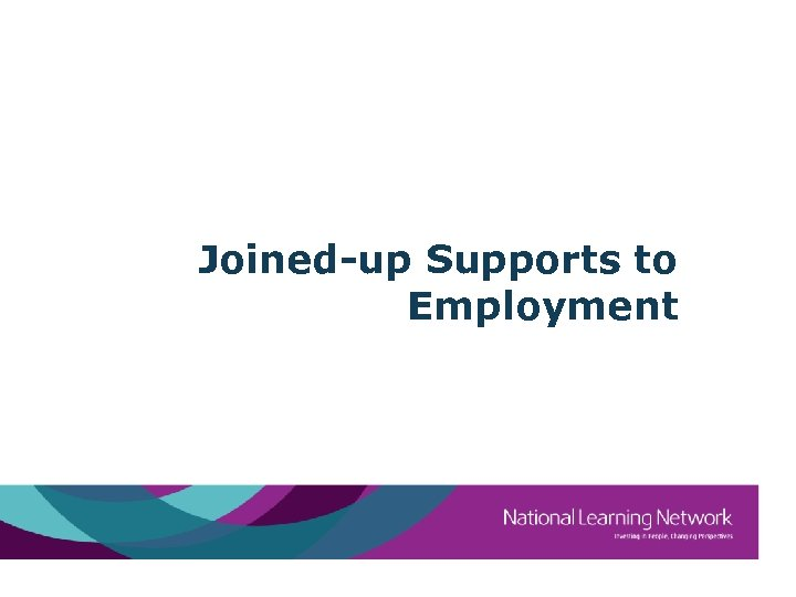 Joined-up Supports to Employment