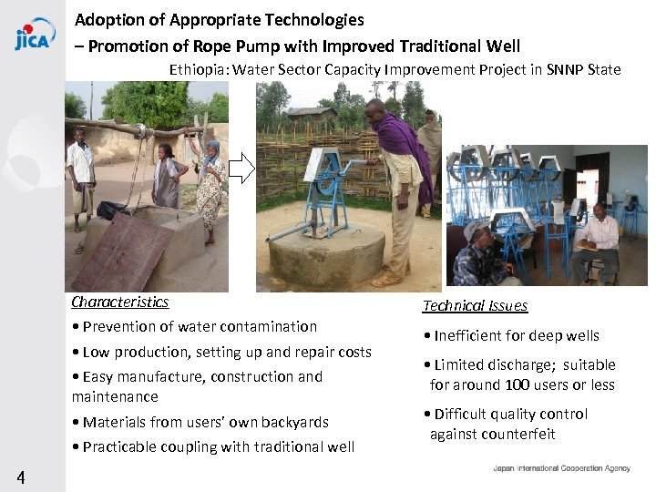 Adoption of Appropriate Technologies – Promotion of Rope Pump with Improved Traditional Well Ethiopia: