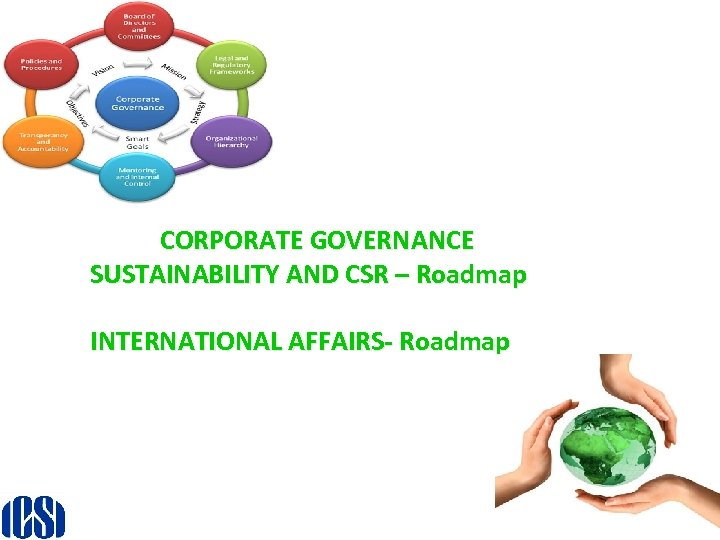 CORPORATE GOVERNANCE SUSTAINABILITY AND CSR – Roadmap INTERNATIONAL AFFAIRS- Roadmap 13