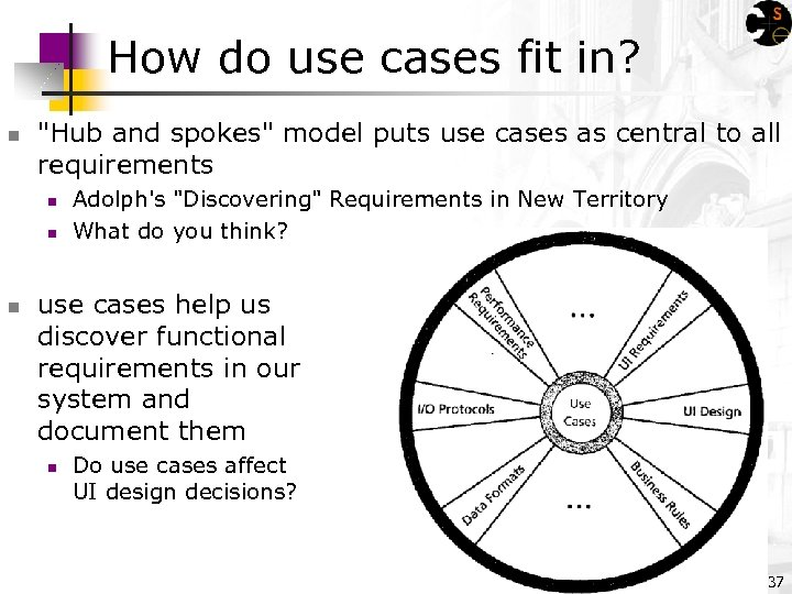 How do use cases fit in? n