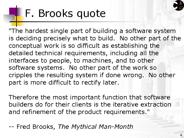 F. Brooks quote