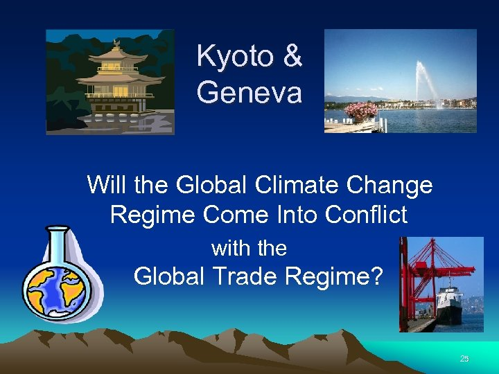 Kyoto & Geneva Will the Global Climate Change Regime Come Into Conflict with the