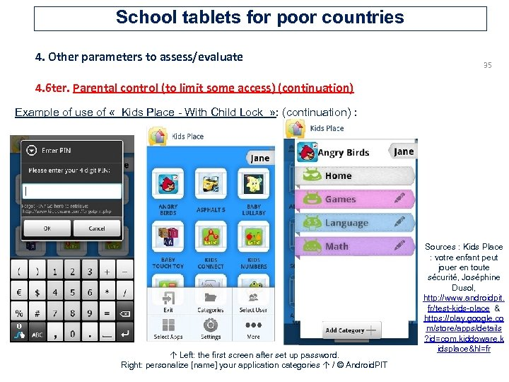 School tablets for poor countries 4. Other parameters to assess/evaluate 35 4. 6 ter.